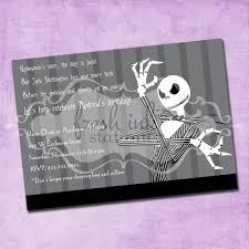jack skellington birthday invitation