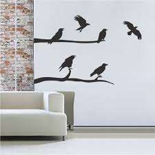 tree wall murals branch wall stickers floral clings trendy