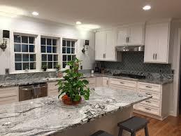 Kitchen Countertops And Backsplashes Granite Viscon White Backsplash Arabesque Glass Tile