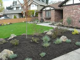 front yard landscape ideas for small house also cream coloured