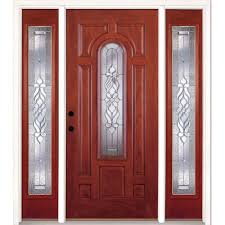 home front door single door with sidelites fiberglass doors front doors the