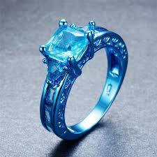 light blue rings images Blue gold light blue aqua zircon ring slim wallet company jpg
