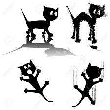 Wall Stickers Cats 5 051 Wall Stickers Cliparts Stock Vector And Royalty Free Wall
