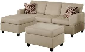 Microfiber Fabric Upholstery Modern Style Living Room With Small Sectional Sofa And Microfiber