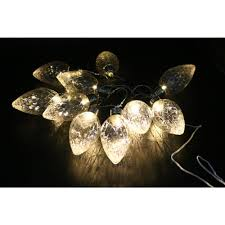 alpine 10 light led light bulbs faceted clear decorative string