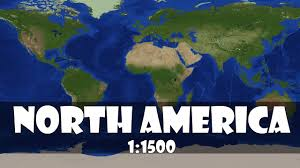 Mapping America by North America 1 1500 Scale In Minecraft Youtube