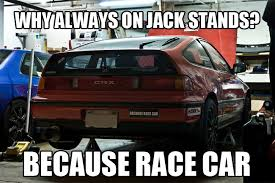 Hybrid Car Meme - jack stands because race car know your meme