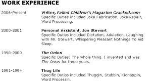 Fake Work Experience Resume Get Any Job You Want U2013 Jerry Mabbott U0027s Blog