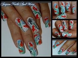 japanese koi fish nail art youtube