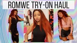 Ulta Human Hair Extensions by Try On Romwe Ulta Haul Youtube