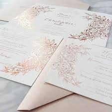 Custom Invitation Jaw Dropping Gorgeous Rose Gold Foil Custom Invitations By Coqui