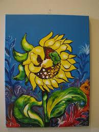 sunflower original acrylic painting for home decor contemporary