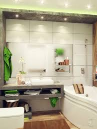 bathroom great mixture of green and white for nice small