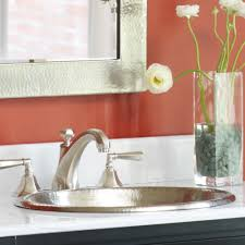 Oval Bathroom Sinks Rolled Classic Copper Bathroom Sink Native Trails