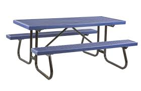 Picnic Table Frame 6 Ft Plastisol Coated Metal Picnic Table With Galvanized Welded