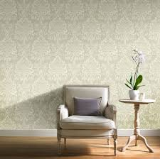 wallpaper with glitter effect gold wallpaper for living room beautiful opulence green damask