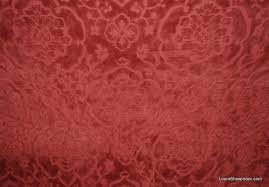 Maroon Upholstery Fabric Ralph Lauren Very Heavy Coral Red Velvet Tapestry Cotton Fabric