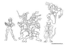 simple coloring pages splendid teenage mutant ninja turtles