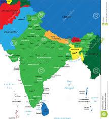 India Political Map India Political Map Stock Vector Image Of Himalaya Chennai