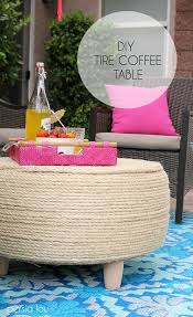 diy recycled tire coffee table tired patios and coffee
