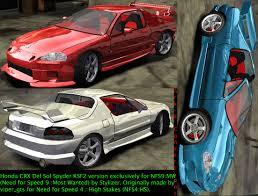 custom honda crx need for speed most wanted honda crx del sol spyder ksf2 kit