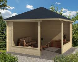 a contemporary garden shelter from jacksons fencing a timber