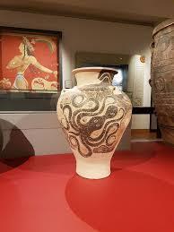 Minoan Octopus Vase File Minoan Pithos Octopus Painting Knossos Crete Jpg