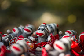 Sock Monkey Favors by Going Bananas Sock Monkey Birthday Mylifeasagrownup