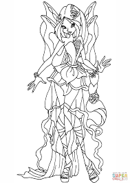 harmonix flora coloring page free printable coloring pages