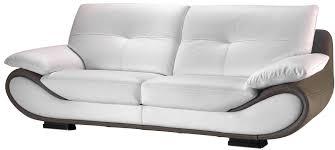 canapé cuir bicolore canapé cuir nelia canapé fixe pas cher mobilier et literie à petit