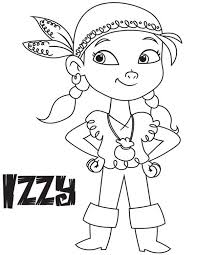 izzy vice captain land pirates coloring 23986