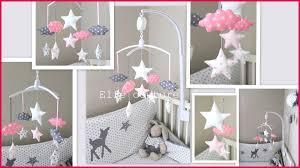 mobile chambre bébé mobile chambre bébé 14493 idee deco chambre bebe fille gris et