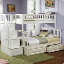 White Bunk Bed With Trundle Bedroom White Bunk Beds With Drawers Stairway Storage