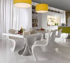 White Wood Dining Table Dining Room Ideas Contemporary Dining Room Furniture Contemporary