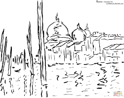 venice by claude monet coloring page free printable coloring pages