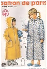 robe de chambre fillette modele couture robe de chambre