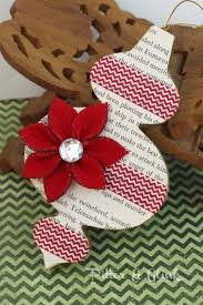 Christmas Book Ornaments - 68 best christmas ornaments made from book pages images on