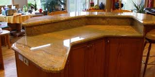 garden kitchen ideas bar awesome curved stone prefab kitchen island with gray