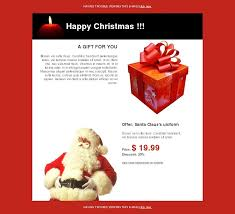 email template greetings christmas santa claus happy holidays