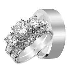 Wedding Rings His And Hers by Wedding Rings For Him And Her Ebay