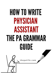 how to write your physician assistant personal statement the book