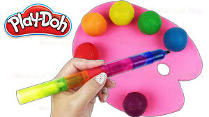 Paint Pallet by Learn Colors With Play Doh Paint Pallet Ice Cream Peppa Pig