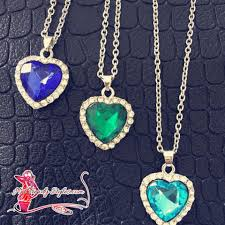 titanic blue necklace images Inspired titanic crystal blue heart of the ocean necklace hot gif