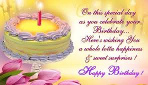 special birthday celebration wish