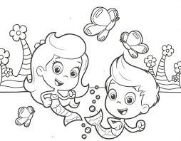 gil molly bubble guppies coloring pages cartoon coloring pages