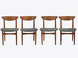 mid century dining chairs set of 8 in teak by kurt ostervig for