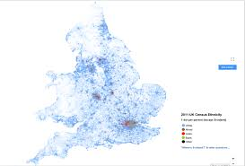 Why Do Western Maps Shrink by England Racial Dot Map 1131x765 Mapporn