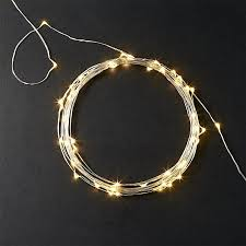 clear wire string lights 21 cb2