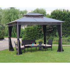 garden 10x10 screen gazebo home depot outdoor gazebo hampton