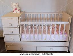 Bed Crib Baby Crib Bed Child Stock Photo 593727305